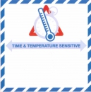 Aufkleber »Time and Temperature Sensitive ...«